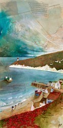 Coming Home by Keith Athay -  sized 39x20 inches. Available from Whitewall Galleries